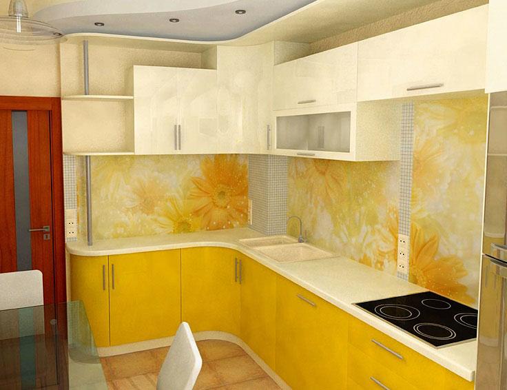 кухни в желтых тонах