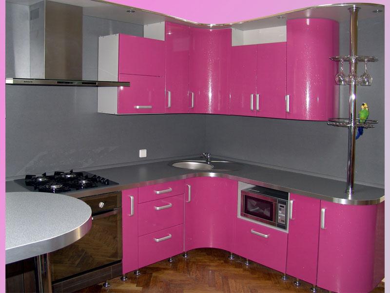 кухни в розовых тонах